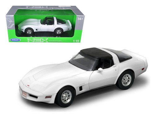 1982 Chevrolet Corvette White 1/18 Scale Diecast Car Model By Welly 12546