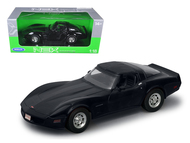 1982 Chevy Corvette Black 1/18 Scale Diecast Car Model By Welly 12546