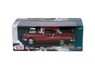 1955 Chevy Bel Air Red 1/18 Scale Diecast Car Model By Motor Max 79002