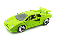 Lamborghini Countach 5000 Green 1/18 Scale Diecast Car Model By Bburago 12027