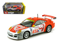 Porsche 911 GT3 RSR #45 Racing 1/24 Scale Diecast Car Model Bburago 28002