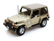 Jeep Wrangler Sahara Khaki 1/18 Scale Diecast Model By Bburago 12014