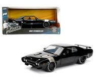 Doms Plymouth GTX Black Fast & Furious 1/24 Scale Diecast Car Model By Jada 98292