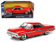 Fast & Furious F8 Doms 1958 Chevy Impala Red 1/24 Scale Diecast Car Model 98426