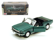 1964 1/2 Ford Mustang Green 1/24 Scale Diecast Car Model By Motor Max 73212