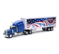Peterbilt 379 Patriotic Semi Truck & Trailer 1/32 Scale By Newray 12333