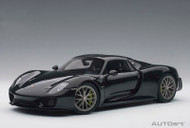 Porsche 918 Spyder Weissach Package White Black Metallic 1/18 Scale Diecast Car Model By AUTOart 77928