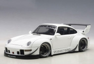 Porsche 993 RWB White Gun Grey Wheels 1/18 Scale Diecast Car Model By AUTOart 78150
