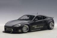 Toyota 86 Rocket Bunny Matt Black Black Wheels 1/18 Scale Diecast Car Model By AUTOart 78755