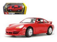 Porsche 911 996 GT3 Red 1/24 Scale Diecast Car Model By Bburago 22084