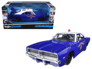 1969 Dodge Charger R/T State Police AUTHORITY 1/24 Scale Diecast Car Model By Maisto 32519
