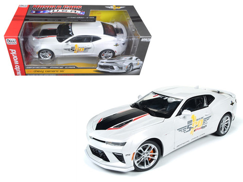 2017 Chevrolet Camaro SS Indy Pace Car 50th 1/18 Scale Diecast Car Model By Auto World AW236