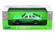 1973 Porsche 911 Carrera RS Green 1/18 Scale Diecast Car Model By Welly 18044