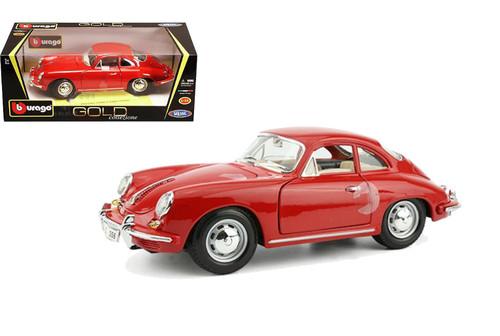 1961 Porsche 356B Coupe Red 1/18 Scale Diecast Car Model By Bburago 12026