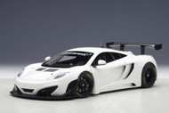 McLaren 12C GT3 White 1/18 Scale Diecast Car Model By AUTOart 81341