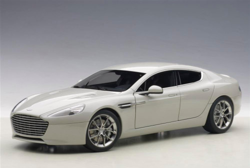 Aston Martin Rapide S 2017 Silver Fox 1 18 Scale Cast Car Model By Autoart 70258