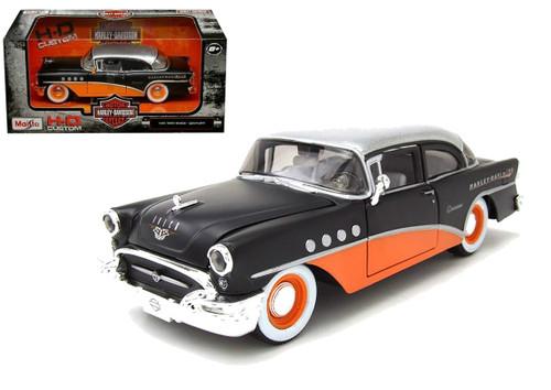 1955 Buick Century Harley Davidson Black & Orange 1/26 Scale Diecast Car Model By Maisto 32197