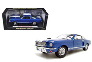 1966 Ford Shelby Mustang GT 350 Blue 1/18 Scale Diecast Car Model By Shelby Collectibles SC 152