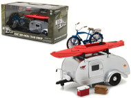 Ken Skill Kustom Kamper Teardrop Travel Trailer & Accessories 1/24 Scale Diecast Model By Greenlight  18420