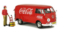 1963 Volkswagen Type 2 T1 Cargo Van With Figure Coca Cola Coke 1/24 Scale Diecast Model Motor City Classics 424062