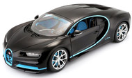 2016 Bugatti Chiron Black 1/18 Scale Diecast Car Model By Bburago 11040