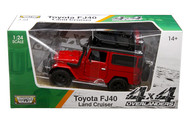 Toyota FJ40 Land Cruiser Red 4x4 Overlanders Series 1/24 Scale Diecast Model By Motor Max 79137