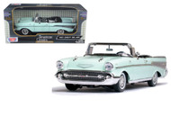 1957 Chevrolet Bel Air Convertible Green 1/18 Scale Diecast Car Model By Motor Max 73175