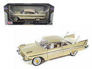 1958 Plymouth Fury Hard Top Beige 1/18 Scale Diecast Car Model By Motor Max 73115