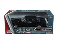 1969 Dodge Coronet Super Bee Black 1/24 Diecast Car Model By Motor Max 73315