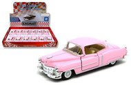 1953 Cadillac Series 62 Coupe Pink Box Of 12 1/43 Scale By Kinsmart KT5339DPK