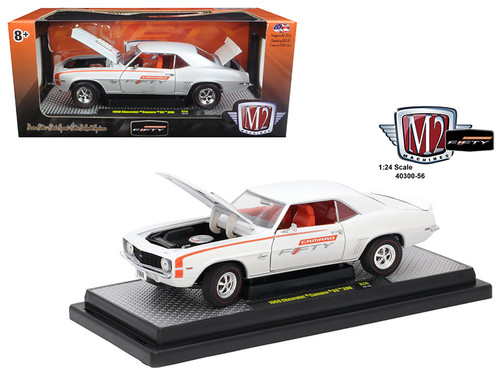 1969 Chevy Camaro SS 396 White 50 Years 1/24 Scale By M2 Machines 40300-56A