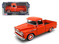 1958 Chevy Apache Fleetside Pick Up Truck Orange 1/24 Scale Diecast Model By Motor Max 79311