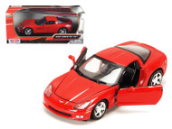 2005 Chevy Corvette C6 Coupe Red 1/24 Scale Diecast Car Model By Motor Max 73270
