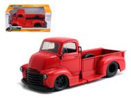 1952 Chevy COE PickUp Truck Red Black Wheels 1/24 Scale Diecast Model By Jada 97046