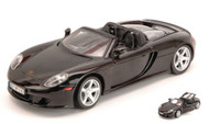 Porsche Carrera GT Convertible Black 1/24 Scale Diecast Car Model By Motor Max 73305