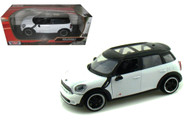 2011 Mini Cooper Countryman S White 1/24 Scale Diecast Car Model By Motor Max 73353