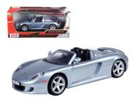 Porsche Carrera GT Convertible Silver 1/24 Scale Diecast Car Model By Motor Max 73305