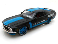 1970 Ford Mustang Boss 302 Racing Black 1/24 Scale Diecast Car Model By Maisto 31329