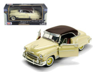 1950 Chevrolet Chevy Bel Air Beige 1/24 Scale Diecast Car Model By Motor Max 73268