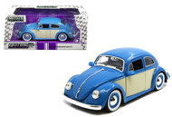 1959 VW Volkswagen Beetle Bug 2 Tone 1/24 Scale Diecast Car Model By Jada 99050