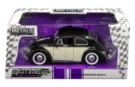 1959 VW Volkswagen Beetle Bug 2 Tone 1/24 Scale Diecast Car Model By Jada 99053
