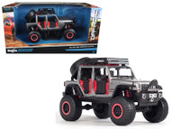 2015 Jeep Wrangler Unlimited Grey Off Road Kings 1/24 Diecast Model By Maisto 32523