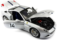 Ferrari California T Hot Rod Silver #14 70th 1/18 Scale Diecast Car Model By Bburago 76103