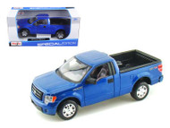2010 Ford F 150 STX Pick Up Truck Blue 1/27 Scale Diecast Car Model By Maisto 31270