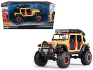 2015 Jeep Wrangler Unlimited Brown Off Road Kings 1/24 Diecast Model By Maisto 32523