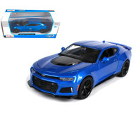 2017 Chevrolet Camaro ZL1 Blue 1/24 Scale Diecast Car Model By Maisto 31512