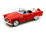1956 Ford Thunderbird T Bird Hard Top Red 1/18 Scale Diecast Car Model By Motor Max 73176