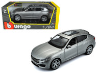 Maserati Levante Silver 1/24 Scale Diecast Car Model By Bburago 21081