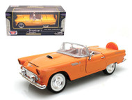 1956 Ford Thunderbird T-Bird Convertible Orange 1/24 Scale Diecast Car Model By Motor Max 73215