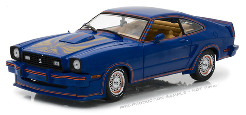 1978 Ford Mustang II King Cobra Blue 1 18 Scale Diecast Car Model By Greenlight 13507